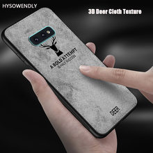 3D Deer Cloth Case For Samsung Galaxy S7 S7edge S8 S9 S10 Plus A6 Plus Silicone Soft Texture S10 Lite Covers For Galaxy Note 8 9(China)