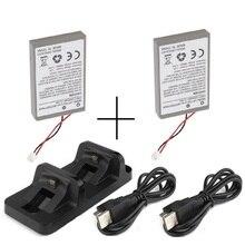 2xBattery 1xDual Charging Dock 2xUSB Charger for Sony PS4 Dualshock4 Wireless Controller Gamepad Li Ion 2000mAh