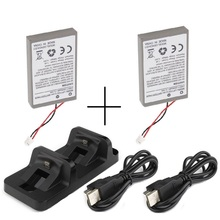 2xBattery+1xDual Charging Dock+2xUSB Charger for Sony PS4 Dualshock4 Wireless Controller Gamepad Li-Ion 2000mAh 3.7V Wholesale