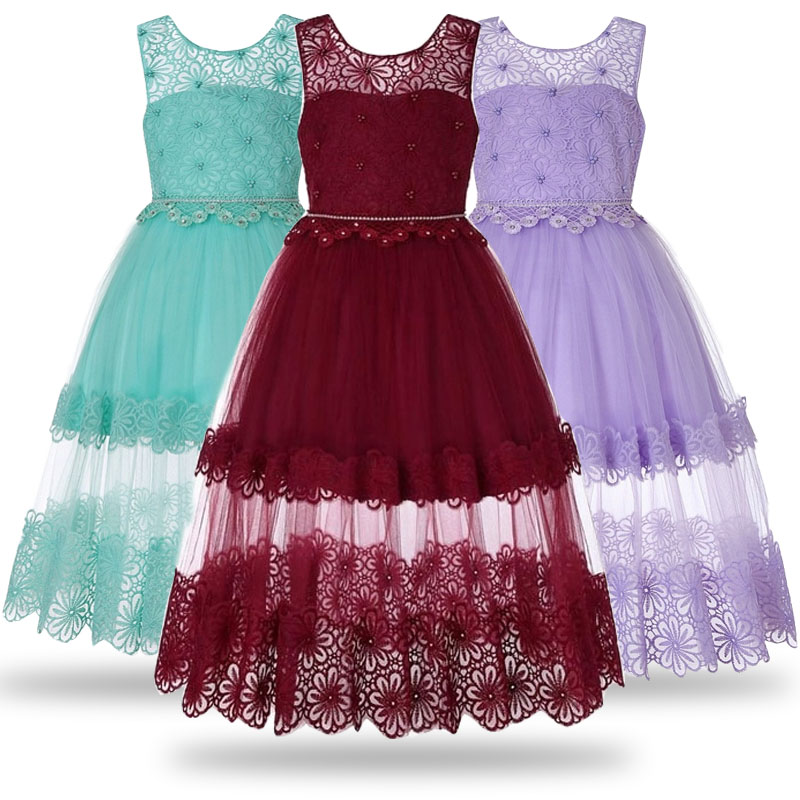 2018 Christmas   dress     girl   Princess   Flower     Girl     Dress   Summer Wedding Birthday Party   Dresses   Special occasion   dress   for   girls