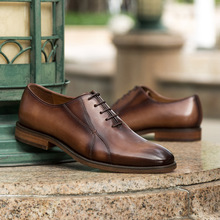 QYFCIOUFU Luxury Brand Business Men's Vintage Casual British Cow Genuine Leather Shoes Flats Oxford Quality Business Dress Shoes