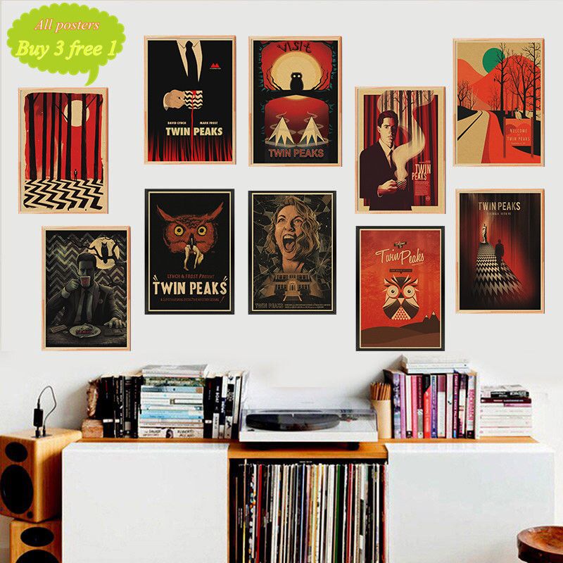 TWIN PEAKS Kraft Paper Posters Clear Image Wall Stickers Decoration Good Quality Prints Retro Vintage Poster  Home Decor