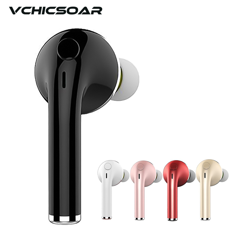 Vchicsoar S1 Mini Bluetooth Earphone Sport Stereo Handsfree Wireless V4.1 Unilateral Earbuds Earphones with Mic for iPhone