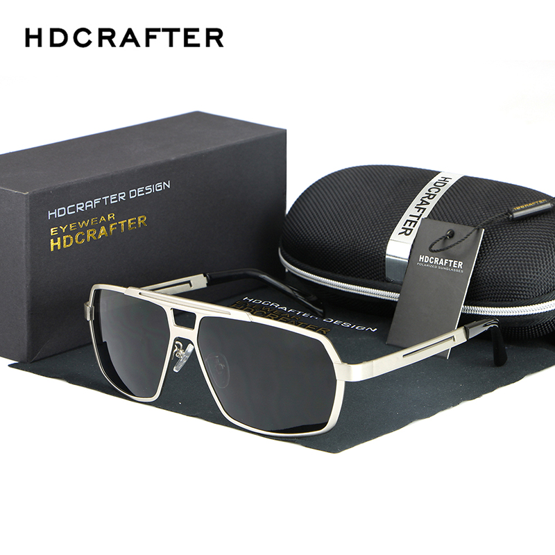 HDCRAFTER Metal Frame Sunglasses Men 2017 Fashion Square Polarized Driving Sun Glasses for Men oculos Male Eyewear Accessories ...