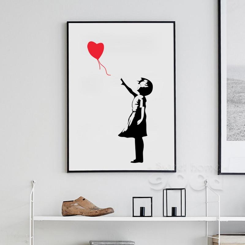 Amazon.com : Banksy (Reproduction) Balloon Girl Art Print Poster ...
