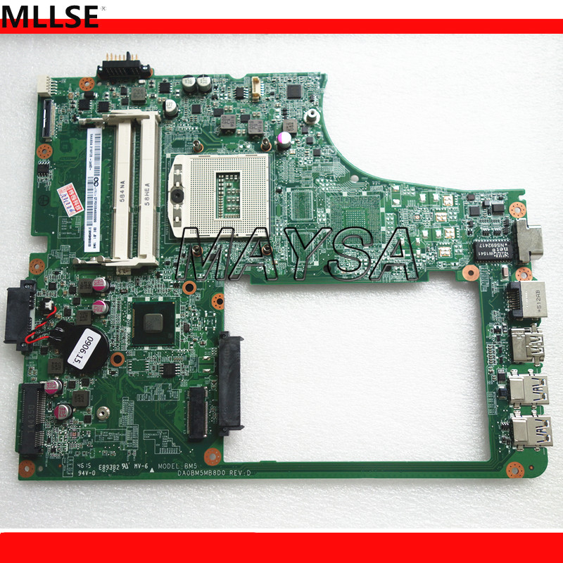 Original Laptop motherboard Fit for Levnovp B5400 Laptop motherboard DA0BM5MB8D0, DDR3 rPGA947, without video memory. original laptop motherboard for da0zhrmb6c0 100