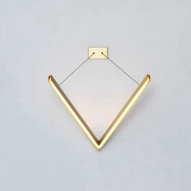 Resident Studio V cantilevered feature wall light Two outreaching arms  trace triangle wall lamp Warm or cool LED wall source
