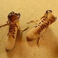 2016 mulheres da moda botas de neve feminina inverno ankle boot cor sólida plano com mulher rendas até sapatos de venda quente dedo do pé redondo NTA48