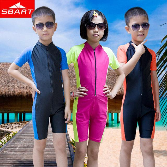 baec795b51 SBART Wetsuit Kids Shorty Wet Suit For Swimming Surfing Short Sleeve Lycra  Skin Boys Girls Scuba Diving Suit Child Wetsuit L XL