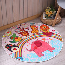 Play Mat Round Elephant Seagull Deer Print Crawling Blanket Infant Game Pad Play Rug Floor Carpet Baby Gym Activity Room Decor(China)