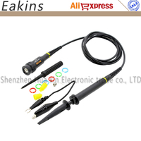 1PCS Wholesale P4100 Oscilloscope Probe 100 1 High Voltage Withstand 2KV 100MHz For Oscilloscope Owon Liliput
