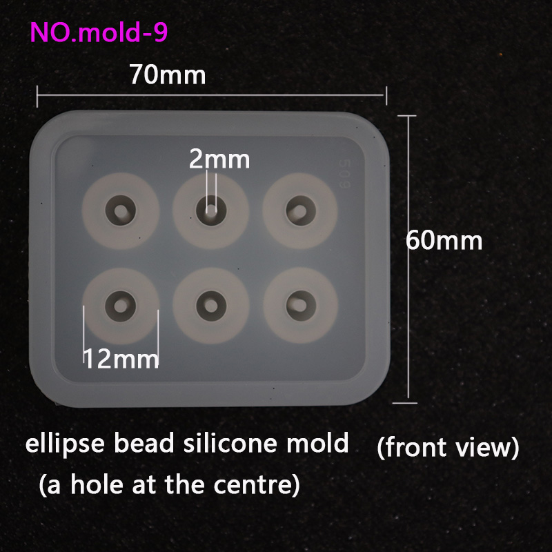 New Transparent Rectangle Silicone Beads Mould ellipse bead 6 Hanging Holes DIY Epoxy Jewelry Mold resin molds for jewelry in Jewelry Findings Components from Jewelry Accessories