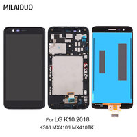 Original LCD Display For LG K10 2018 K30 LMX410 LMX410TK Touch Screen Digitizer Assembly Replacement Black with Frame