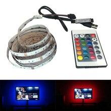 SMD 3528 DC 5V/6V USB RGB LED strip TV 50CM 1M 2M 3M 4M 5M Flexible Light LED Lamps Light TV Background Lighting Adhesive Tape стоимость
