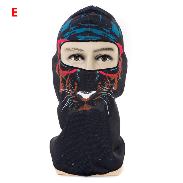 1pcs 3D Outdoor Sport Creative Mask Anti-UV Bicycle Riding Face Scarf Scarves Breathable Headband Protect Full Face Mask 4