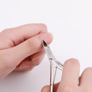 Image 2 - ステンレス鋼キューティクルニッパープロはさみ指ケアマニキュア角質ツールゴールドとスライバー