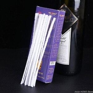 Image 1 - 50 sztuk/zestaw fajka środki czyszczące mieszanka bawełny pręty tytoń dym ustnik wygodne jednorazowe urządzenia do oczyszczania akcesoria