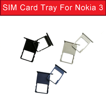 1set Sim Card Slot Tray For Nokia 3 TA-1020 TA-1028 TA-1032 TA-1038 SD Memory Card Socket Adapter Replacement Parts