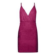 SUOGRY 2018 Gold Diamond Sweater Halter Sleeveless V-Neck Nightclub Wind Fashion Sexy Tight Pack Hip Dress