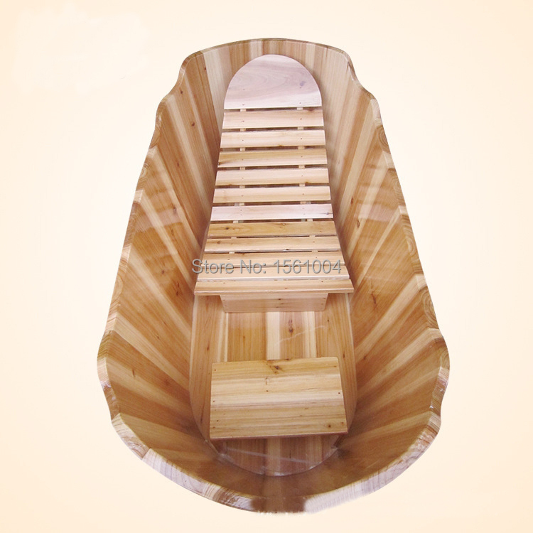 wood soaking tub with chair,wooden tub for soaking,wooden bathtub-in ...