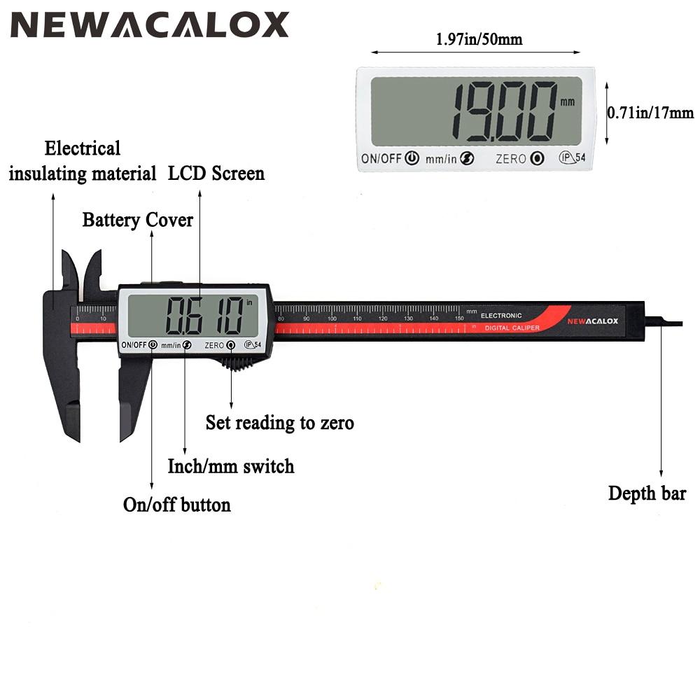 hight resolution of newacalox 150mm 6inch ip67 precision digital vernier caliper brush further vernier caliper diagram labeled diagram of vernier