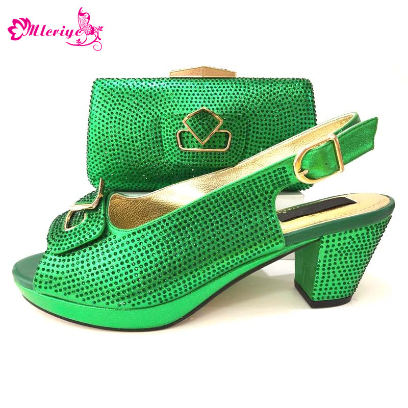 African Party Italian Shoes with Matching Bag for Wedding Women Shoes and Bag to Match for Parties Nigerian Shoes and Bag Set doershow italian shoes and bag set women shoe and bag to match for parties latest green color lady matching shoes and bag ul1 4