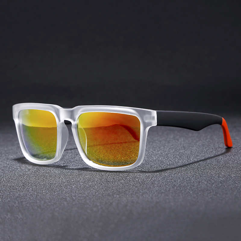 fa2f90f92a78 ... Super Deal New Men Sport sunglasses Square Frame Reflective Coating Sun  Glasses Women Brand Design HD
