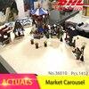 Lepin 36010 1412pcs Christmas Series Winter Village Market Carousel Model Building Blocks Bricks Toys For Children