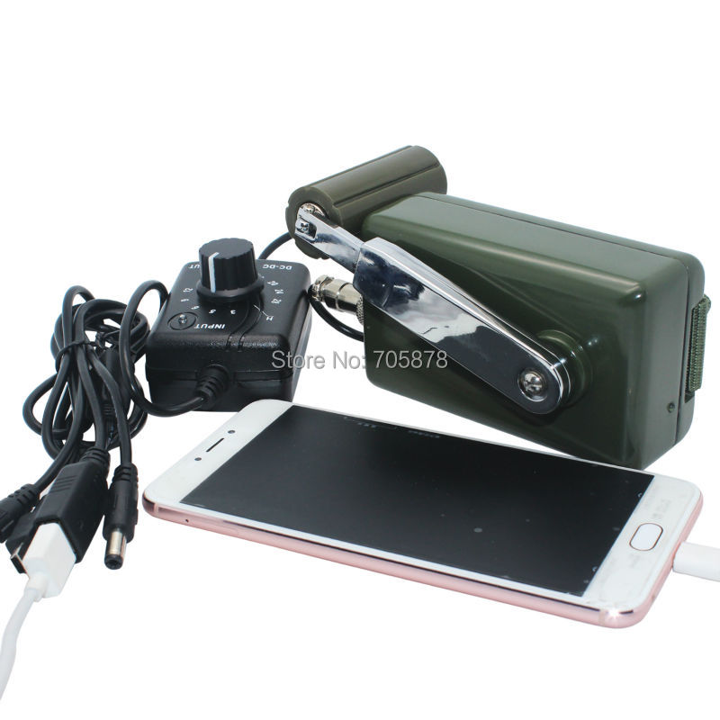 Portable Dynamo Phone Charger Military 30W 0 28V Hand Crank Generator