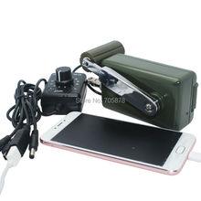 Dynamo Cargador de Teléfono portátil Militar 30 W/0-28 V Generador de Manivela