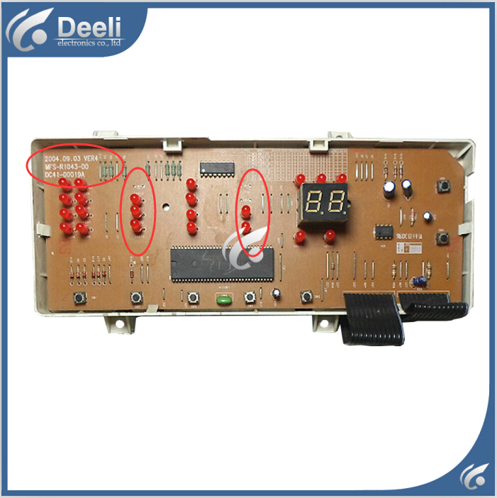 100% tested Original used baord washing machine board for WF-S1053 DC41-00019A MFS-R1043-00 used 100% tested sgmph 01bbab1