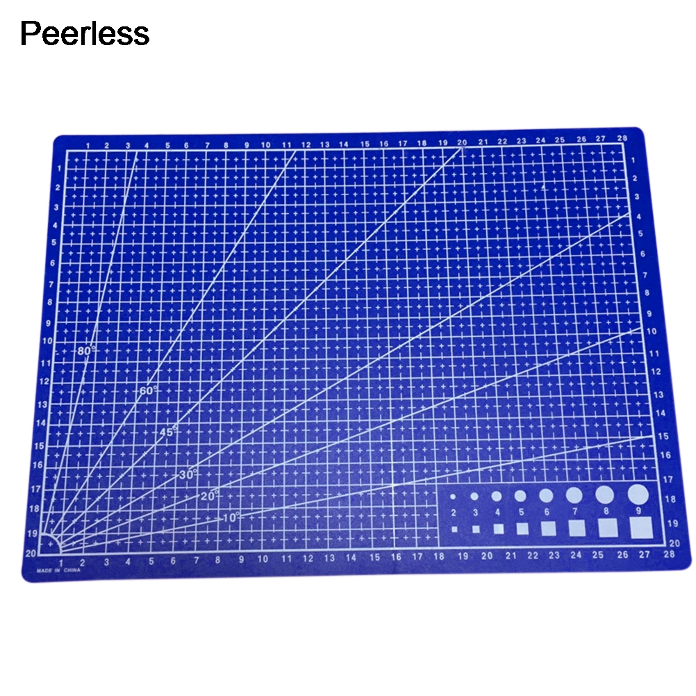 Energetic Peerless Plastic Blue A4 Cutting Rulers Mat 30x22cm Rich And Magnificent Office & School Supplies School & Educational Supplies