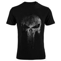 The Punisher Skull Hip Hop Supper Hero T Shirts Men T Shirt Tops Tees Brand Clothing
