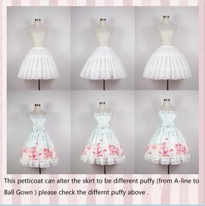 Image 4 - 2019 Ruffles Şifon Jüpon Kısa Elbise Cosplay Petticoat Çekici Kemikleri Lolita Petticoat Bale Rockabilly Kabarık Etek