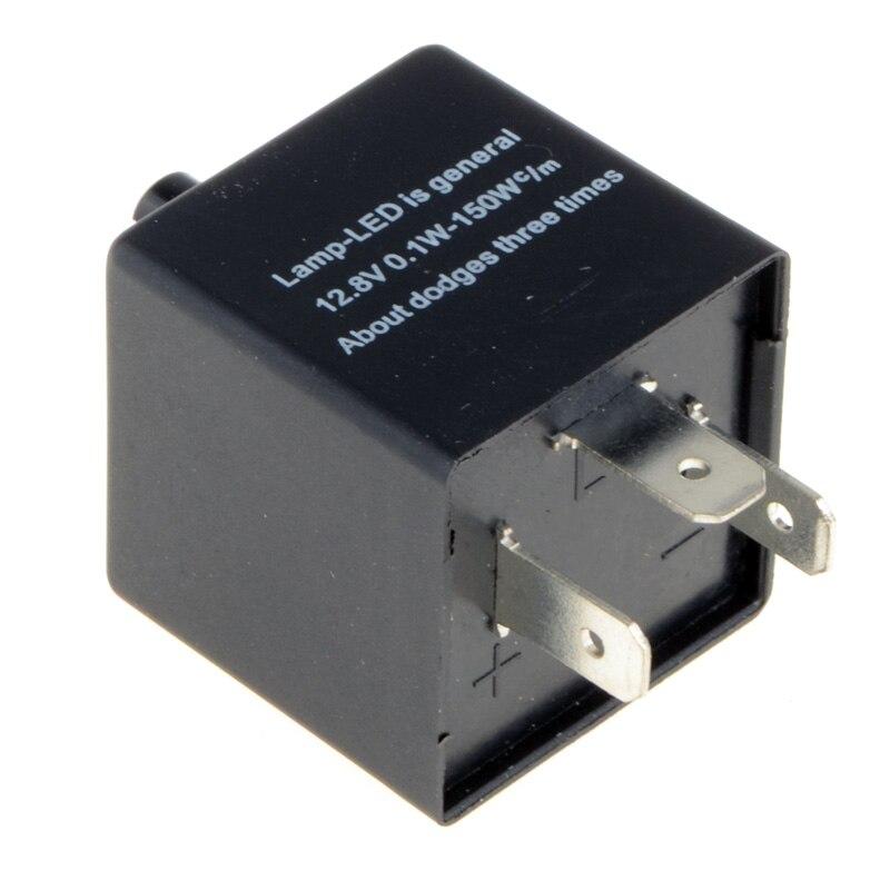 12V 3 broches fréquence réglable LED clignotant relais moto clignotant indicateur moto Fix clignotant indicateur P31