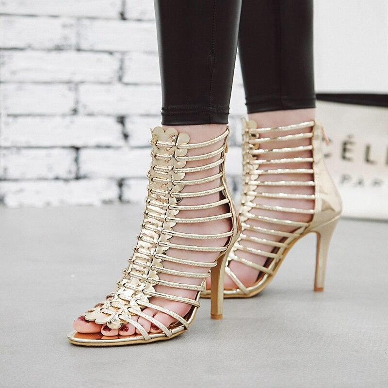 35 Plus Plata Zapatos Sandalias Fiesta 43 Alto Sandale 11 Cm Verano 2IYH9WeED