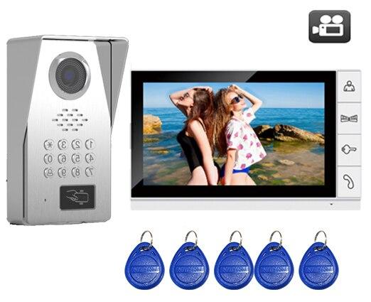 SMTVDP TFT LCD Color 9Video Door Phone Doorbell w/t SD Card Slot IR Intercom Home Security System HD FRID Panel Camera 1V1