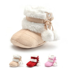 3 Colors New Cozy Baby Shoes Winter Baby Girl Tie Up Boots Newborn Toddlers Kid Cozy Crib Shoes