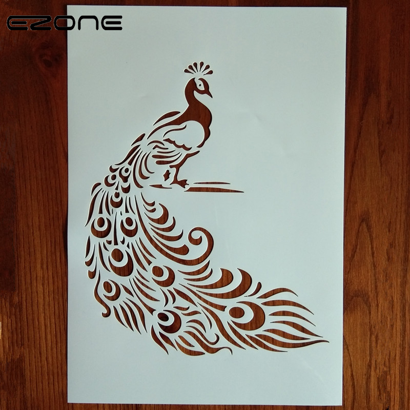 EZONE 1PC Craft Layering Stencils Different style For Walls Painting Scrapbooking Album Decor Embossing Paper Template 1pcs alphabet transparent silicone clear rubber stamp cling diary scrapbooking diy making photo album paper card craft decor