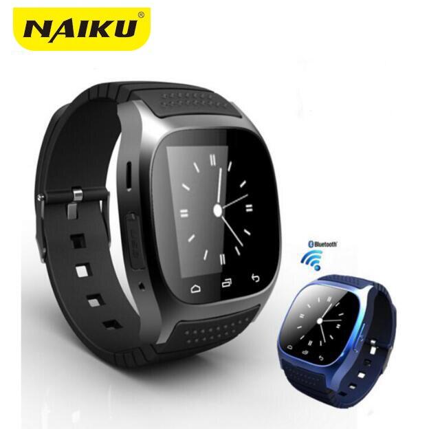 NAIKU Étanche Smartwatch M26 Bluetooth Montre Smart Watch Avec LED Alitmeter Musique Lecteur Podomètre Pour Android Téléphone Intelligent T30