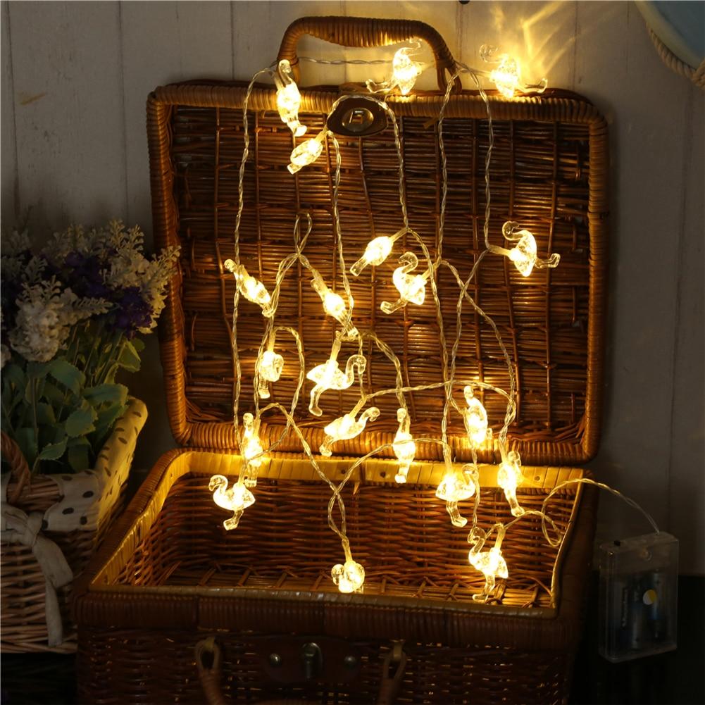 Fairy Lightsfairy LightsFlamingo String Light 1.5M-10M,10L/20L/40L/96L,3AA/31V US/EU Room Weding Party Wall Window Home Decoration Children Night Lamp