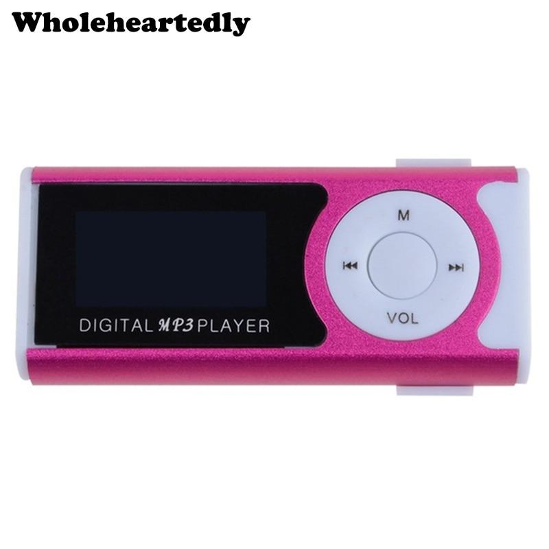 뜨거운 판매 미니 클립 Mp3 음악 플레이어 스포츠 Mp3 TF 카드 슬롯 LED 손전등 + 이어폰 + 충전 케이블 도매 가격