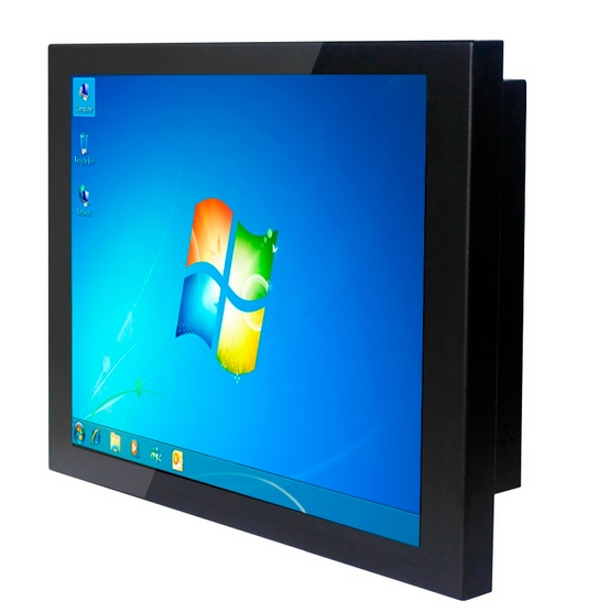 TFT LCD HD CCTV monitor display 10.1 I 12.1 15 17nch 4*COM Touch Screen all in one tablet PC signage totem
