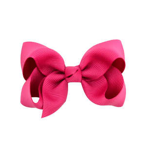 Image 3 - 3 inch 40 Bulk Small Toddler Ribbon Bows Alligator Hair Clips Solid Children Hair Bows For Pigtails Little Girl Hair Accessories