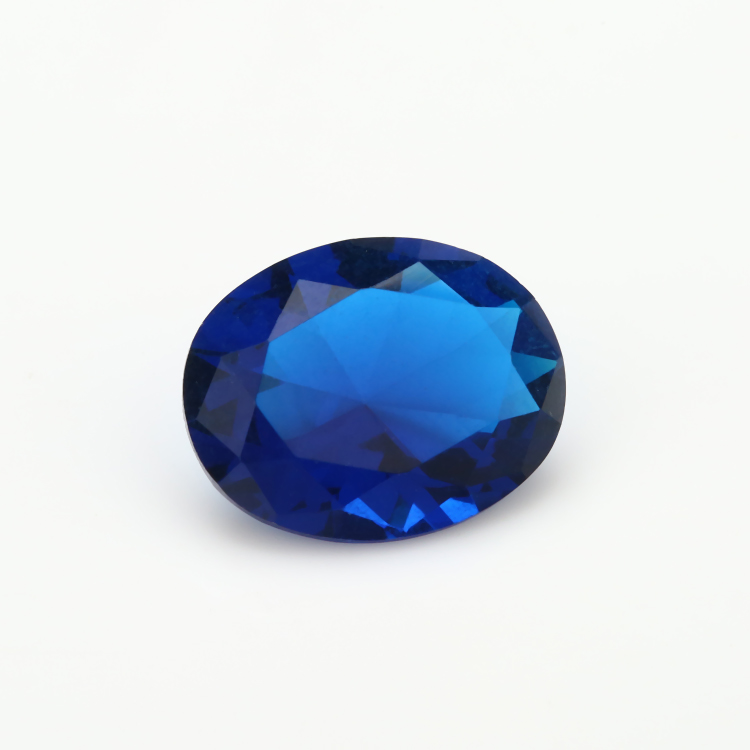 2x3~13x18mm Spinel Blue Color Oval Shape Loose Glass Gemstone Glass Beads Synthetic Gemstone For Jewelry Wholesale Price