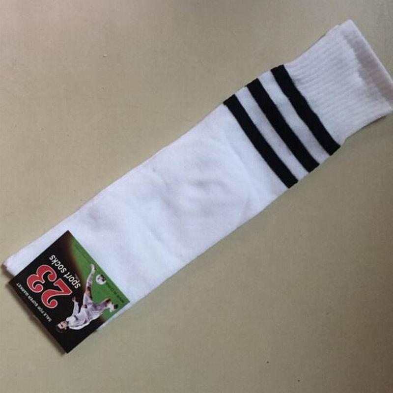 New Unisex Outdoor Especially Spring Summer Autumn Seasons Football Sports Socks Stripes Cotten And Acrylic Fibers Soft Elastic