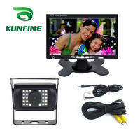 KUNFINE 12/24V Parking System Truck Bus Rear View Camera With 7 TFT LCD Monitor and 15M RAC Cable