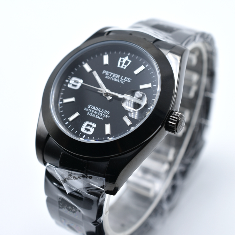 HTB1Us9QagmTBuNjy1Xbq6yMrVXaN Silver Watch | Fashion PETER LEE Nautilus | Brand Luxury Full Steel Bracelet Waterproof Automatic Mechanical Business Clocks Classic Dial 38mm Mens Watch
