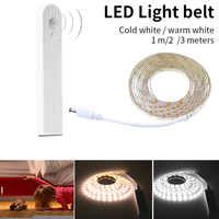 LED Strip Light PIR Motion Sensor Waterproof Night Lamp Tape Battery Powered for Stairs Hallway Closet Wardrobe Home Decoration