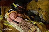 El yapımı Tığ Örme Beanie şapka ve Pantolon Kostüm Kıyafet Yeni Yenidoğan Bebek Fotoğraf Sahne, bebek fotoğraf sahne